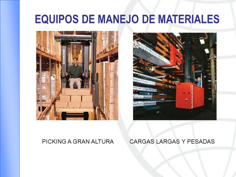 EQUIPOS DE MANEJO DE MATERIALES PICKING A GRAN ALTURACARGAS LARGAS Y PESADAS