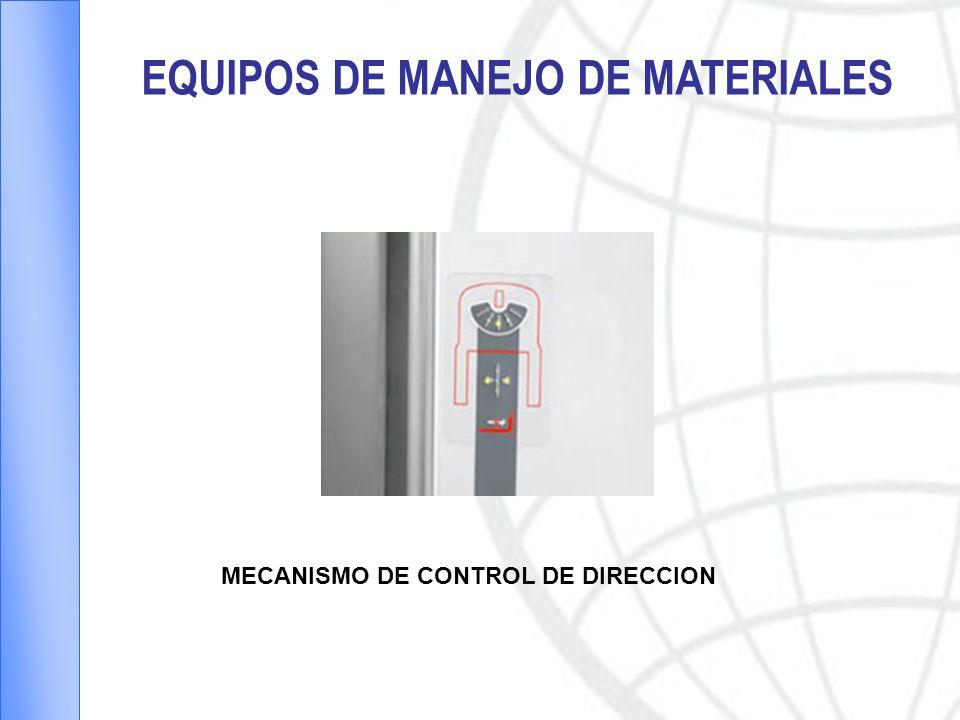 EQUIPOS DE MANEJO DE MATERIALES MECANISMO DE CONTROL DE DIRECCION