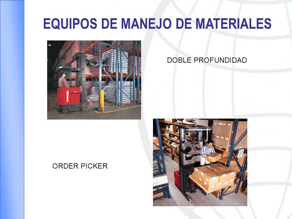 EQUIPOS DE MANEJO DE MATERIALES DOBLE PROFUNDIDAD ORDER PICKER