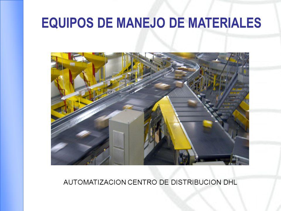 EQUIPOS DE MANEJO DE MATERIALES AUTOMATIZACION CENTRO DE DISTRIBUCION DHL