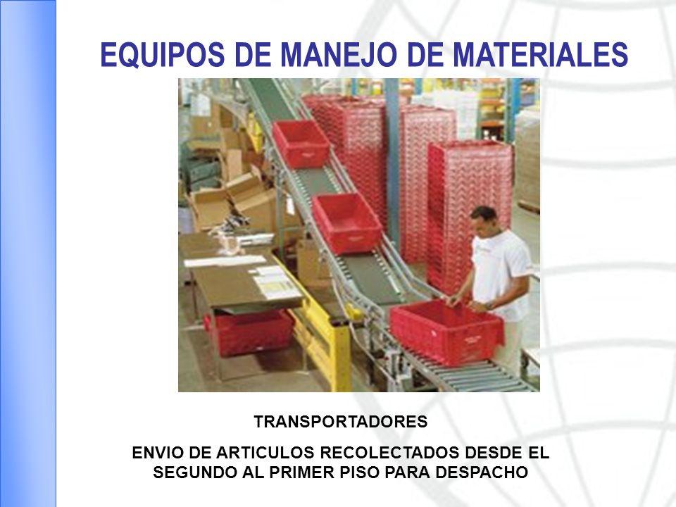 EQUIPOS DE MANEJO DE MATERIALES PISOS PARA CENTROS DE DISTRIBUCION
