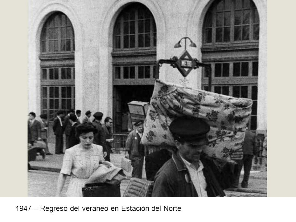 1947 – Regreso del veraneo en Estación del Norte