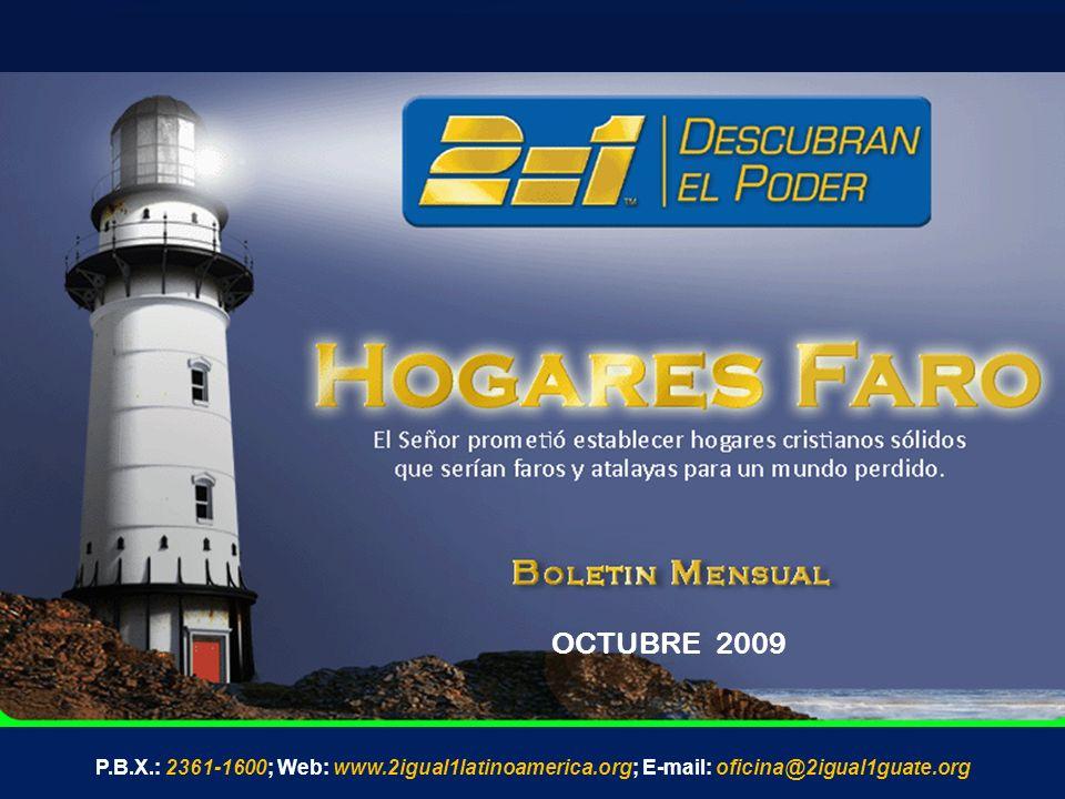OCTUBRE 2009 P.B.X.: 2361-1600; Web: www.2igual1latinoamerica.org; E-mail: oficina@2igual1guate.org