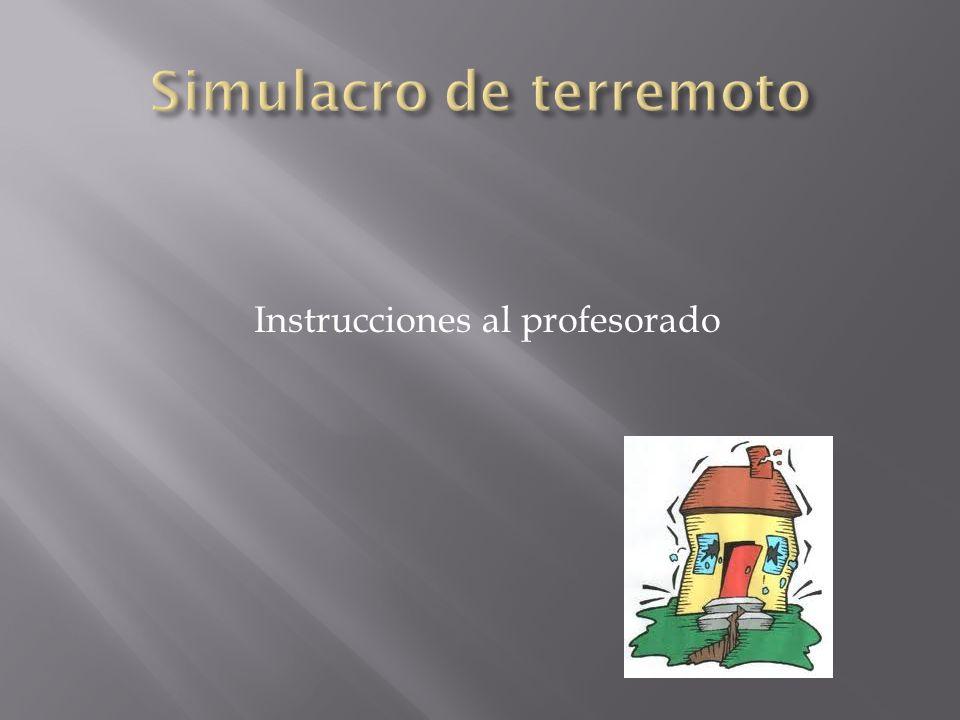 Instrucciones al profesorado