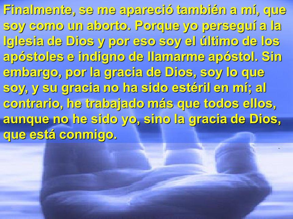 Les transmití, ante todo, lo que yo mismo recibí: que Cristo murió por nuestros pecados, como dicen las Escrituras; que fue sepultado y que resucitó a