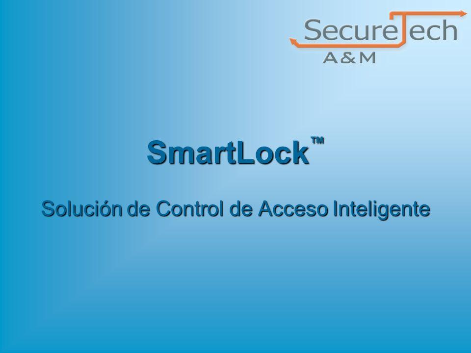 32 SecureTech A&M © 2008 SmartLock Esquemas de Comercialización EntryKit – Control de acceso para dos puertas, Dos lectores, fuente de alimentación 90-240VAC con cargador de batería, Software Administrador de Recursos y Servidor de Comunicaciones.