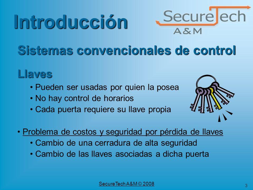 34 SecureTech A&M © 2008 SmartLock Esquemas de Comercialización Licencias adicionales de software Administrador de Visitas (SLckVis) Centros de Control (SLckCmd) Soporte para manejadores de base de datos