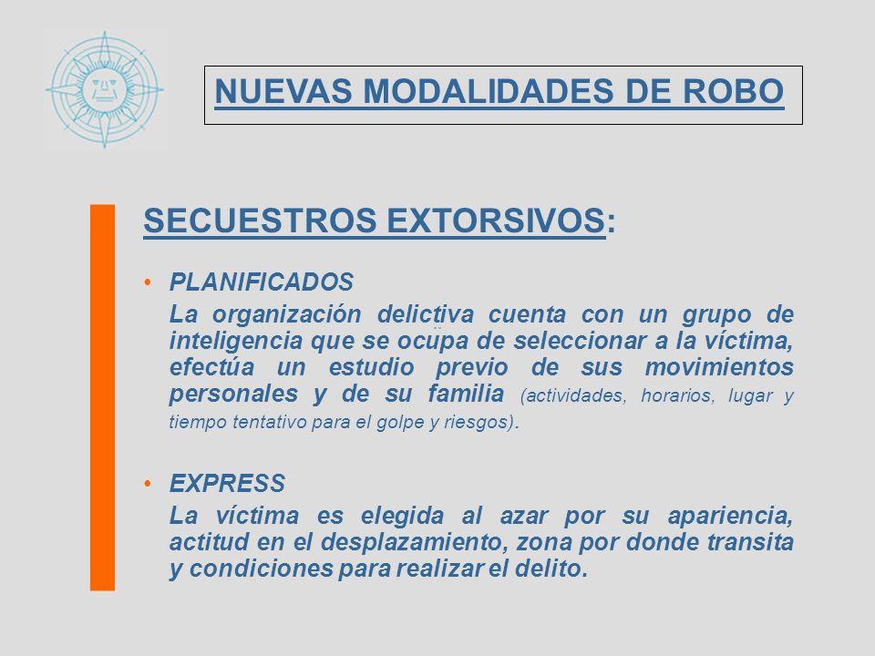 SECUESTRO EXPRESS: VICTIMA: individuo que, por su vestimenta, alhajas, vehículo, etc., aparenta solvencia económica.