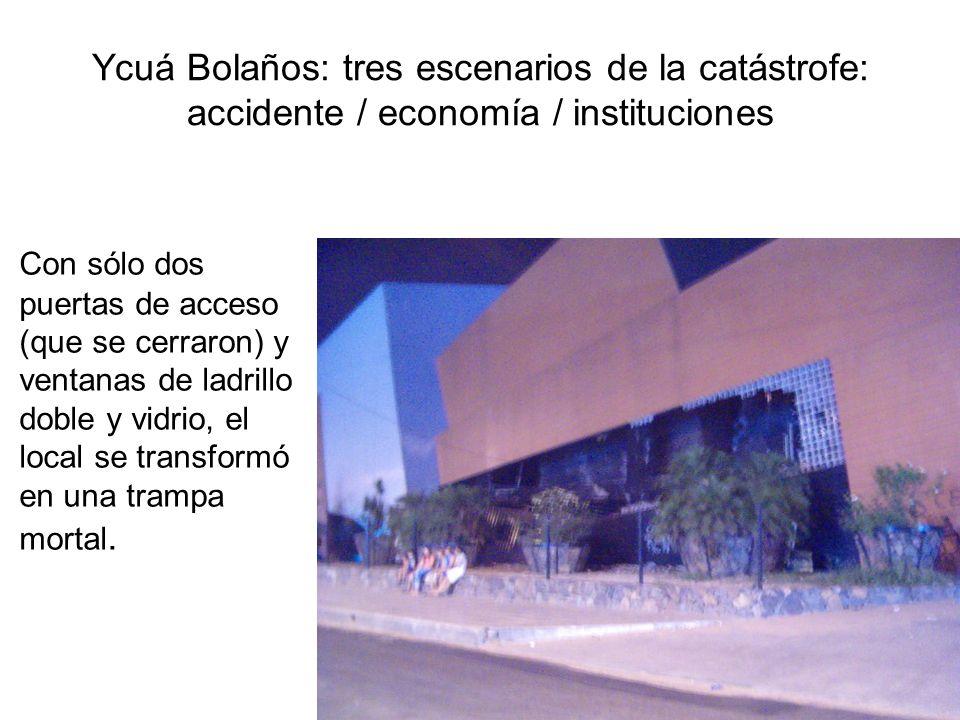 Ycuá Bolaños: tres escenarios de la catástrofe: accidente / economía / instituciones Con sólo dos puertas de acceso (que se cerraron) y ventanas de la