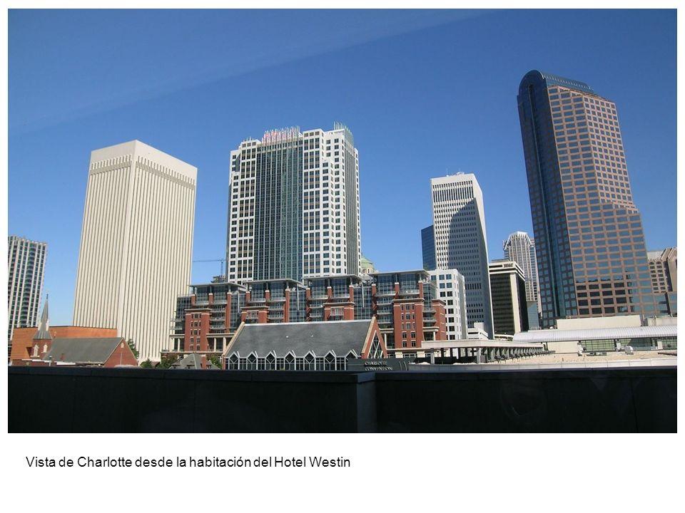 Vista de Charlotte desde la habitación del Hotel Westin