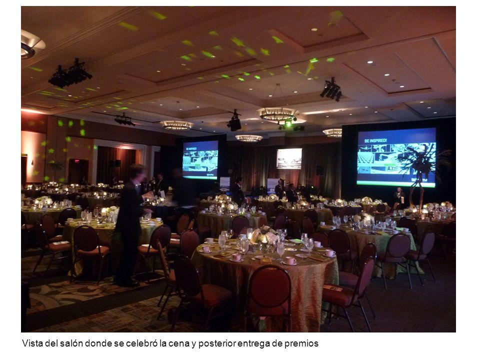 Vista del salón donde se celebró la cena y posterior entrega de premios