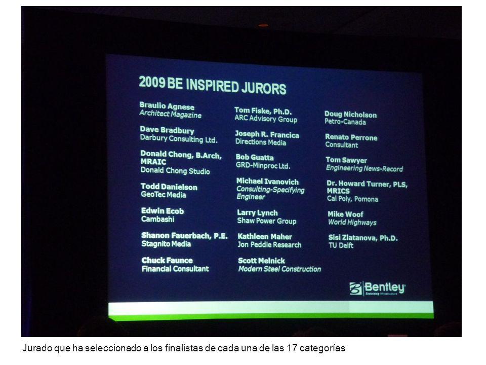 Jurado que ha seleccionado a los finalistas de cada una de las 17 categorías
