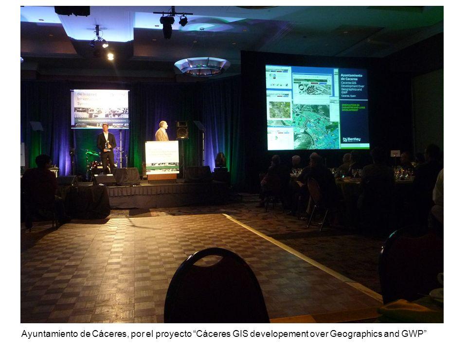 Ayuntamiento de Cáceres, por el proyecto Cáceres GIS developement over Geographics and GWP