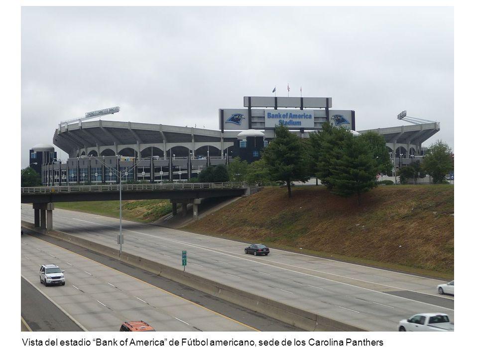 Vista del estadio Bank of America de Fútbol americano, sede de los Carolina Panthers