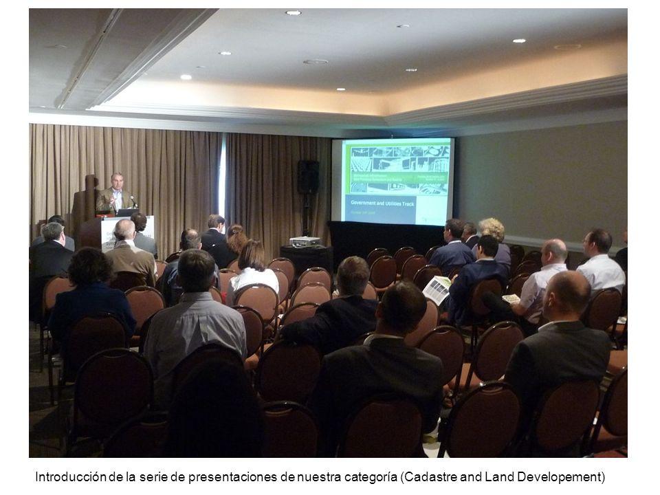 Introducción de la serie de presentaciones de nuestra categoría (Cadastre and Land Developement)