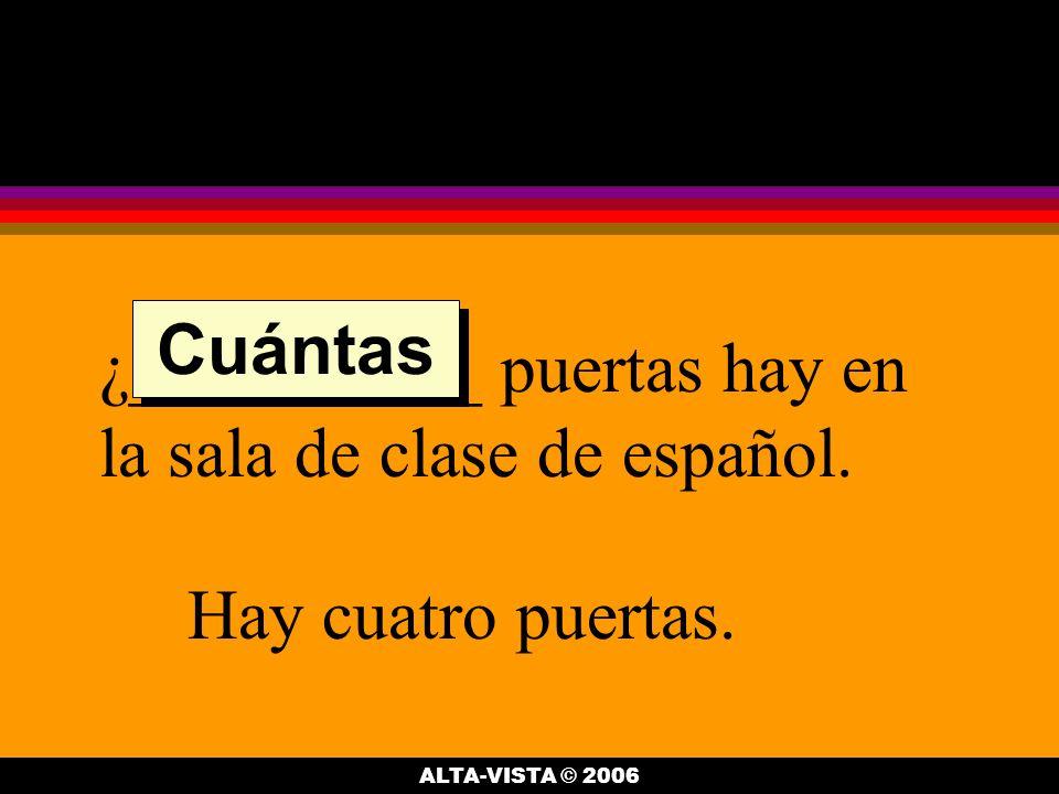 ¿__________ pupitres hay en la sala de clase de español.