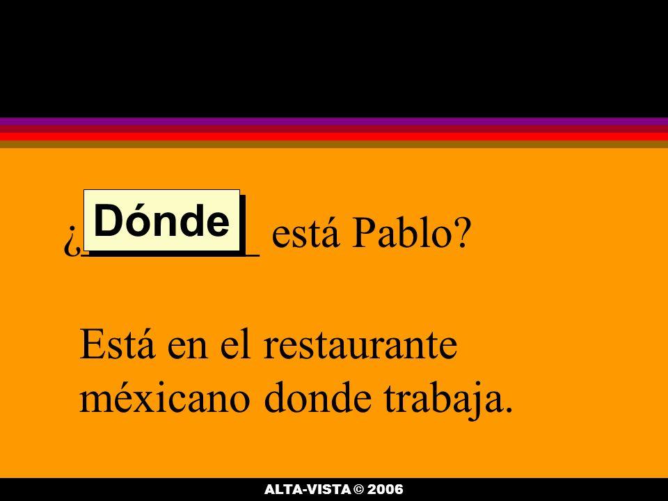 Pablo es de México, ¿______.Es correcto. Es del D.F.