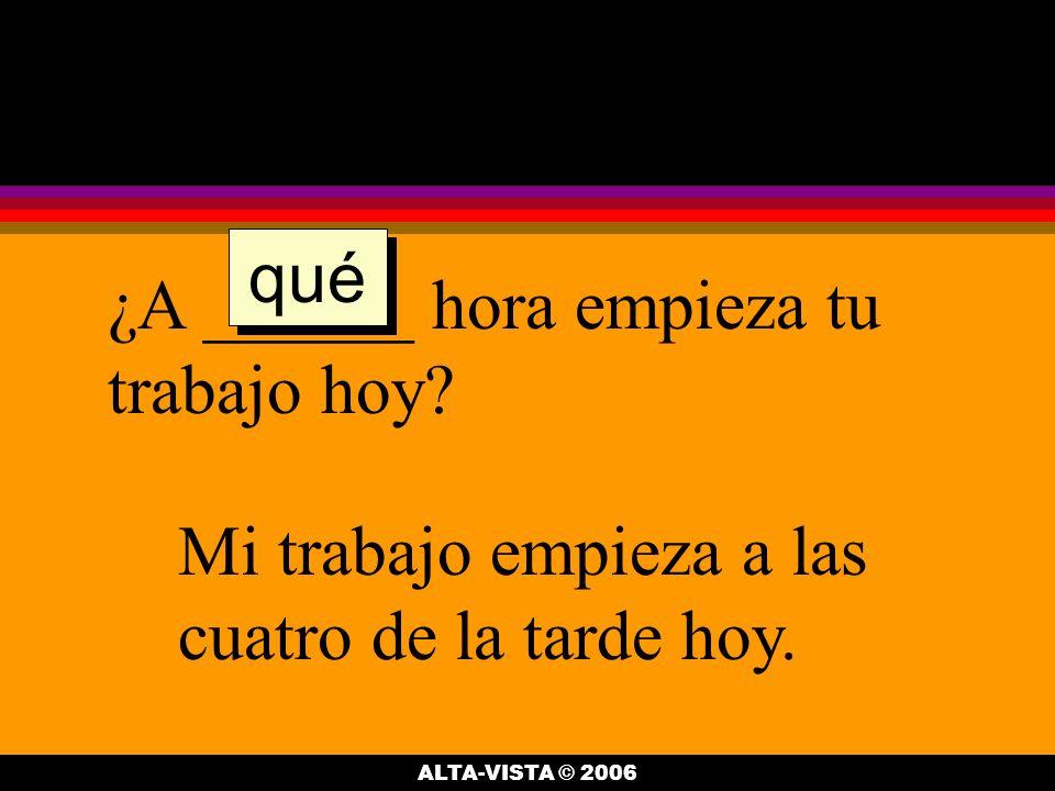 ¿___________ es el examen en la clase de español.El examen es el jueves de esta semana.