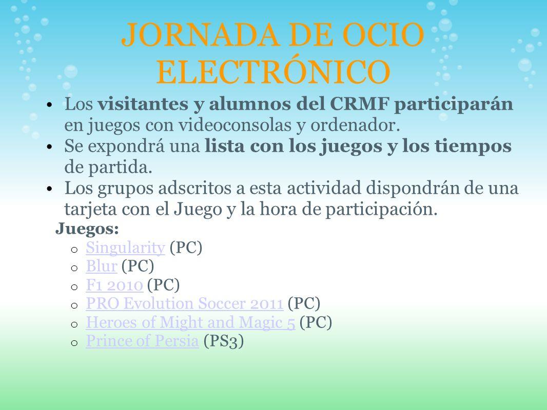 JORNADA DE OCIO ELECTRÓNICO Los visitantes y alumnos del CRMF participarán en juegos con videoconsolas y ordenador.