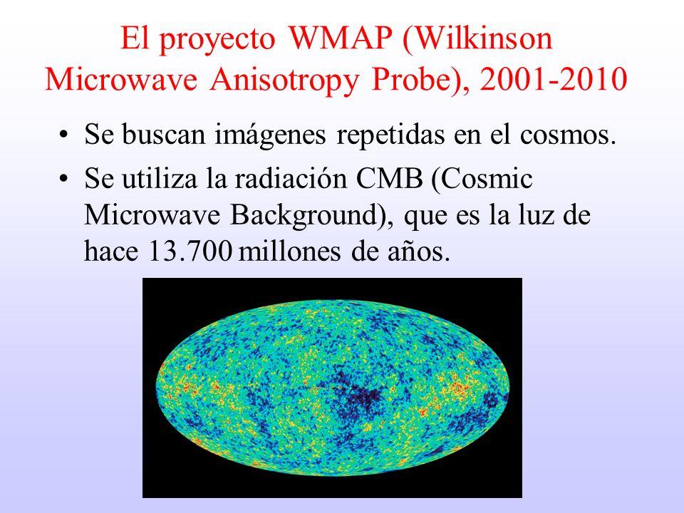 El proyecto WMAP (Wilkinson Microwave Anisotropy Probe), 2001-2010 Se buscan imágenes repetidas en el cosmos.