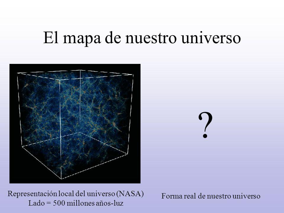 El mapa de nuestro universo .