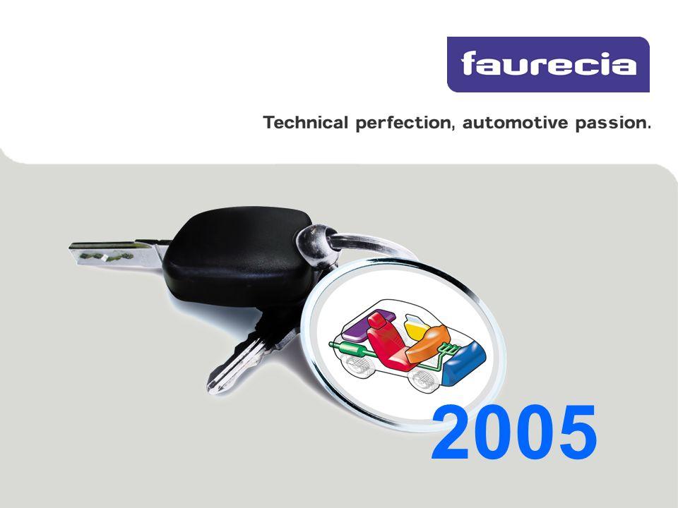 2 Presentación Corporativa – FAURECIA 2005 Última actualización: 12 de septiembro de 2005 Un proveedor de equipamientos de automóvil de nivel mundial Ventas en 2004: 10,700 millones de euros 60.000 empleados 28 centros de I+D 160 plantas 28 países Cotiza en Euronext Paris - Eurolist Ventas en 2004 a los fabricantes de automóviles (miles de millones de USD) >Cifras clave en 2004 Source: Automotive News – August 2005 Source: Automotive News – April 2005 EuropaMundo 1.Bosch16.6 2.Faurecia11.3 3.Magna8.8 4.JCI8.2 5.Siemens VDO7.8 6.ZF7.2 7.Lear 6.7 8.Valeo6.5 9.TRW5.9 10.Continental5.6 1.Bosch 27.2 2.Delphi24.1 3.Magna19.9 4.Denso19.9 5.JCI19.5 6.Visteon17.7 7.Lear17.0 8.Aisin Seiki 15.5 9.Faurecia14.6 10.TRW11.1