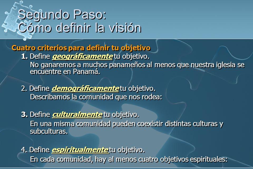 Cuatro criterios para definir tu objetivo 1.Define geográficamente tu objetivo.