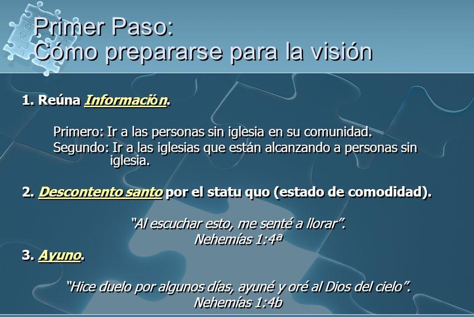 1.Reúna Informaci ó n. Primero: Ir a las personas sin iglesia en su comunidad.