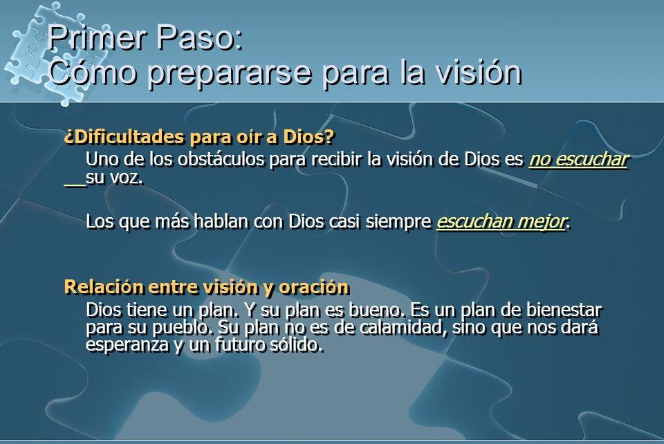 ¿Dificultades para o í r a Dios? Uno de los obstáculos para recibir la visión de Dios es no escuchar su voz. Los que más hablan con Dios casi siempre