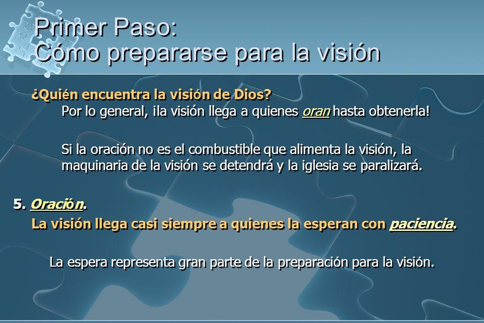 ¿Qui é n encuentra la visi ó n de Dios? Por lo general, ¡la visión llega a quienes oran hasta obtenerla! Si la oración no es el combustible que alimen