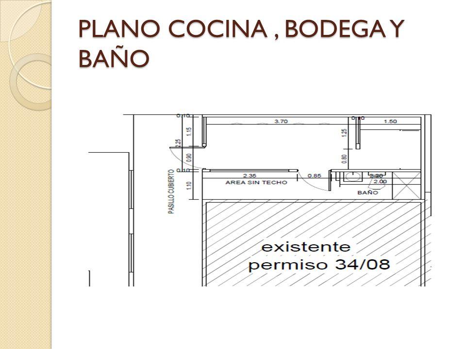 PLANO COCINA, BODEGA Y BAÑO