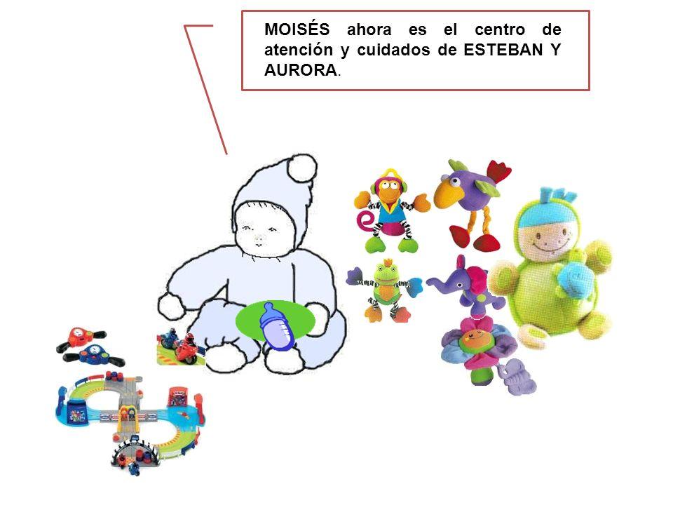MOISÉS ahora es el centro de atención y cuidados de ESTEBAN Y AURORA.