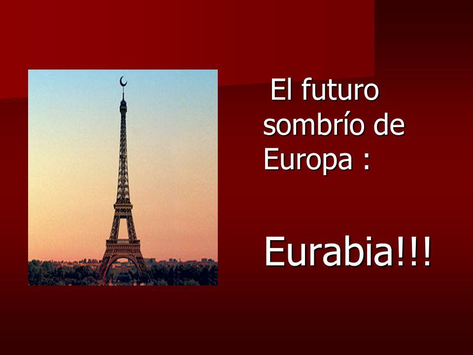 El futuro sombrío de Europa : El futuro sombrío de Europa : Eurabia!!! Eurabia!!!