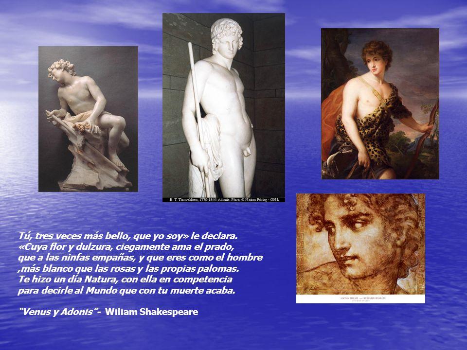 AFRODITA Y ADONIS ADONIS fue fruto del incesto de Esmirna con su padre Tías. Afrodita había castigado a Esmirna porque era muy hermosa. Hizo que se en