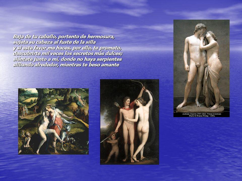 Al nacer Afrodita lo colocó en un cofre que confió a Perséfone diosa de los infiernos. Cuando quiso reclamarlo Perséfone, cautivada por la belleza del