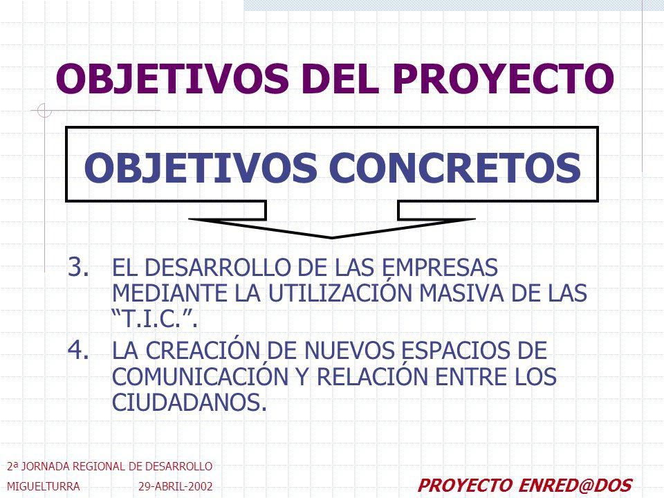 OBJETIVOS DEL PROYECTO 3.