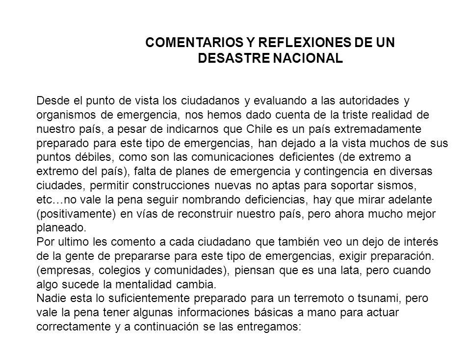 Desde el punto de vista los ciudadanos y evaluando a las autoridades y organismos de emergencia, nos hemos dado cuenta de la triste realidad de nuestr