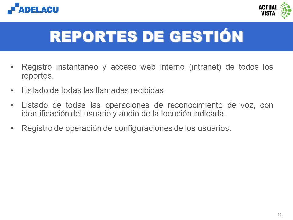 www.adelacu.com 10 EJEMPLO DE RESPUESTAS Para el caso de que un usuario no esté disponible, se pueden definir un total de hasta 30 respuestas predeterminadas.