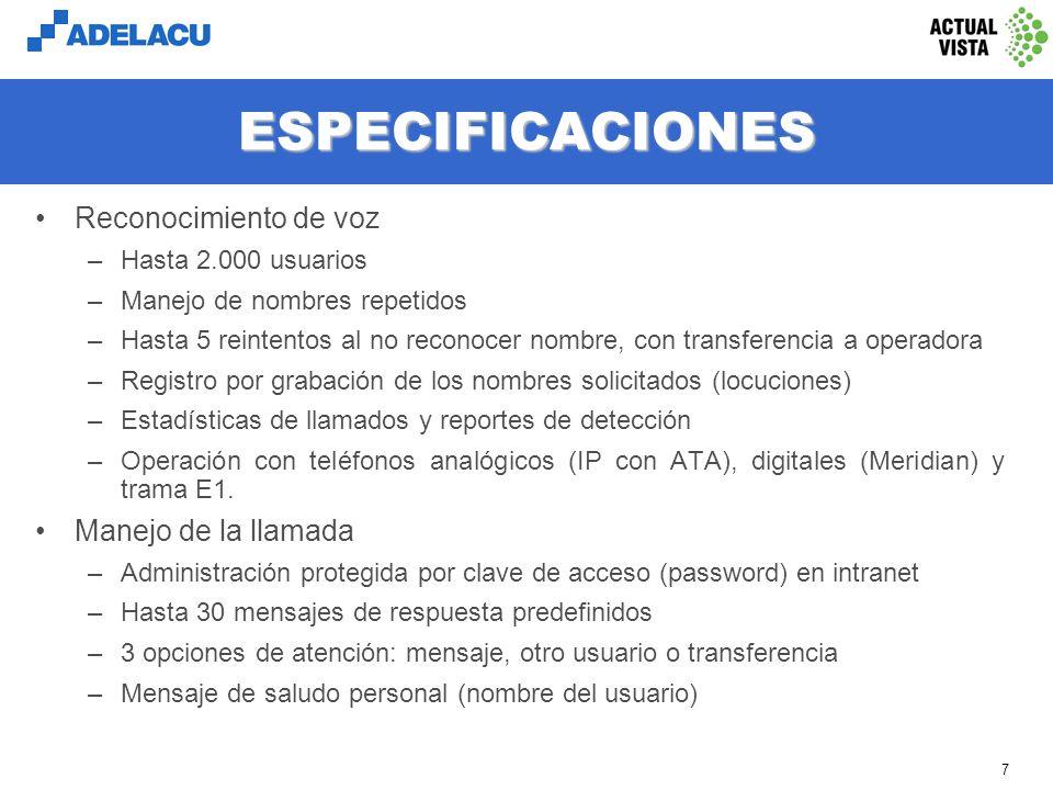 www.adelacu.com 6 COMO FUNCIONA (cont.) Si selecciona dejar un mensaje, se podrá grabar un mensaje de audio, el que será enviado al correo electrónico