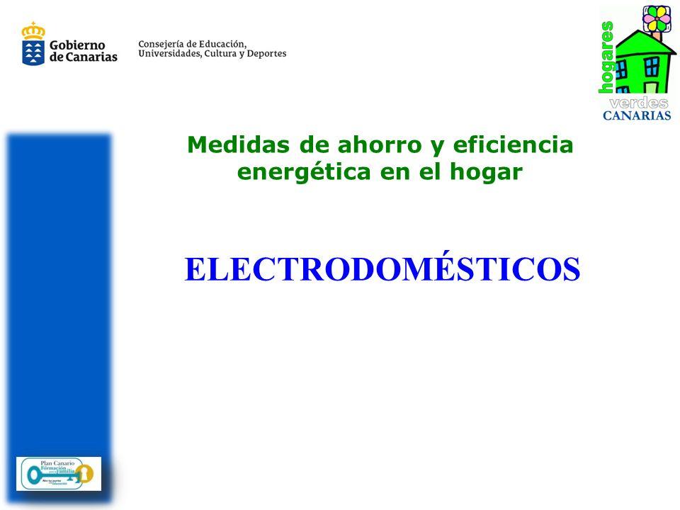 Medidas de ahorro y eficiencia energética en el hogar ELECTRODOMÉSTICOS