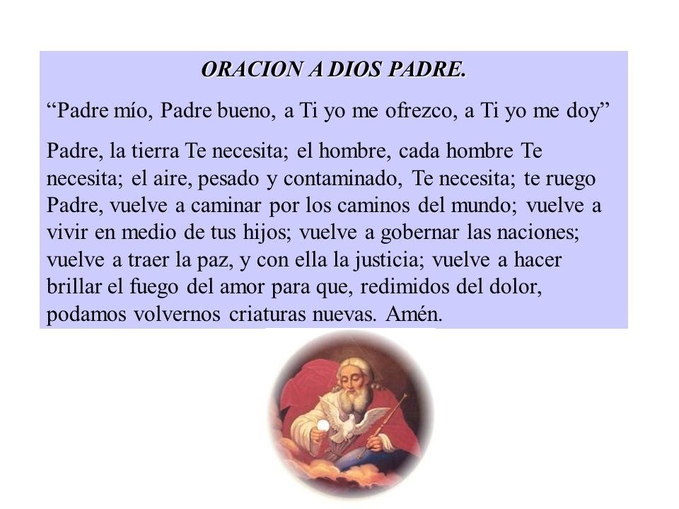 ORACION A DIOS PADRE.