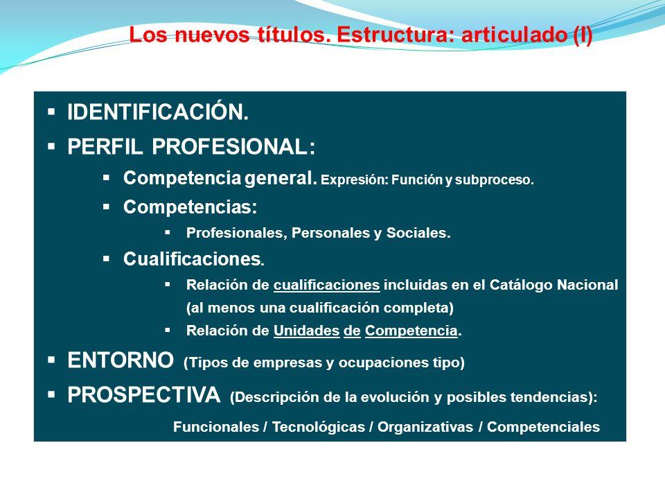 IDENTIFICACIÓN.PERFIL PROFESIONAL: Competencia general.