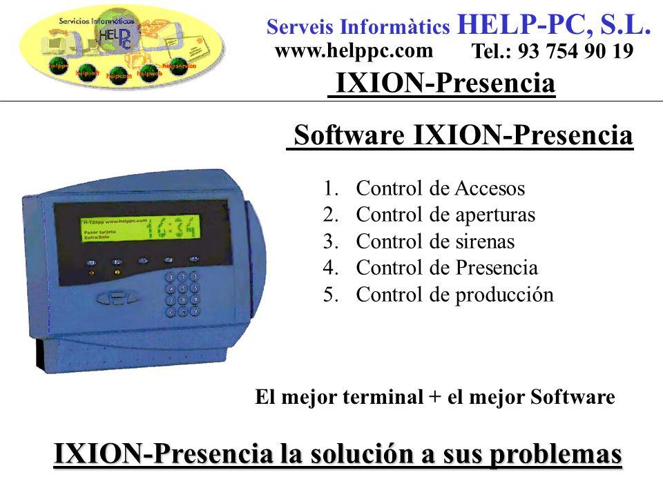 Software IXION-Presencia Serveis Informàtics HELP-PC, S.L.