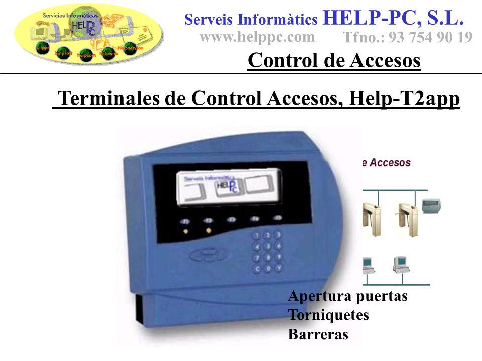 Terminales de Control Accesos, Help-T2app Serveis Informàtics HELP-PC, S.L.