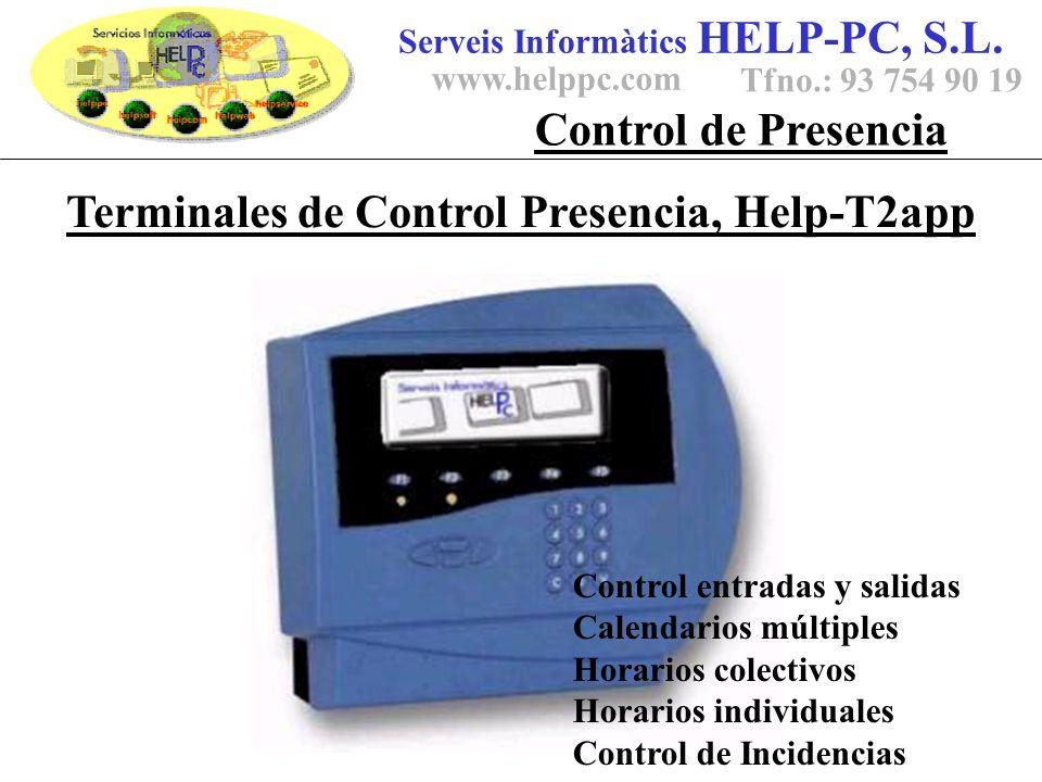 Terminales de Control Presencia, Help-T2app Serveis Informàtics HELP-PC, S.L.