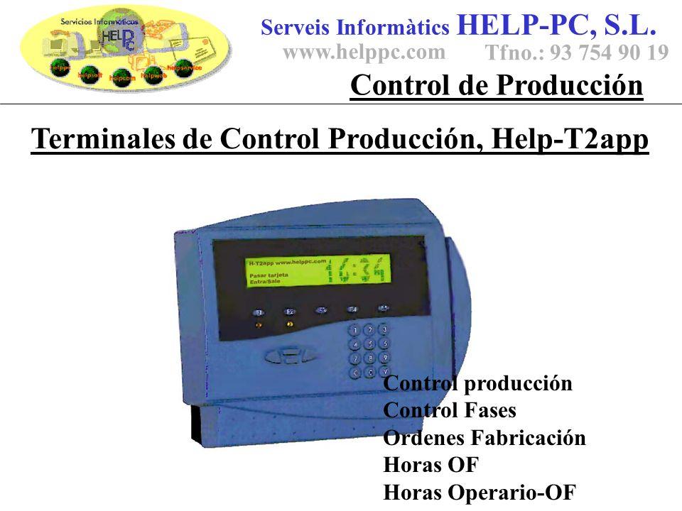Terminales de Control Producción, Help-T2app Serveis Informàtics HELP-PC, S.L.
