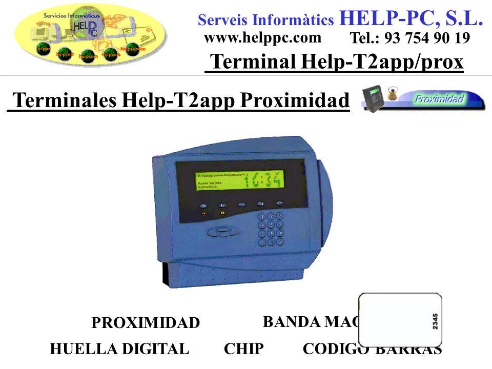 Terminales Help-T2app Proximidad Serveis Informàtics HELP-PC, S.L.