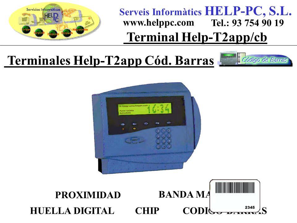Terminales Help-T2app Cód. Barras Serveis Informàtics HELP-PC, S.L.