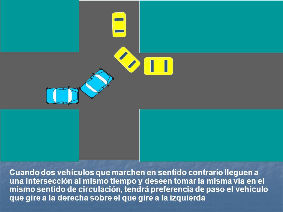 Tendrán preferencia de paso los vehículos que circulen sobre vías pavimentadas, frente a los que proceden de otras sin pavimentar.