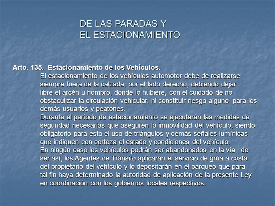 Arto. 114. Parqueos privados para la prestación del servicio al público Corresponde a los gobiernos locales, en coordinación con la Especialidad de Se
